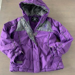 Beverly Hills Polo Club Purple Winter Jacket Hoode